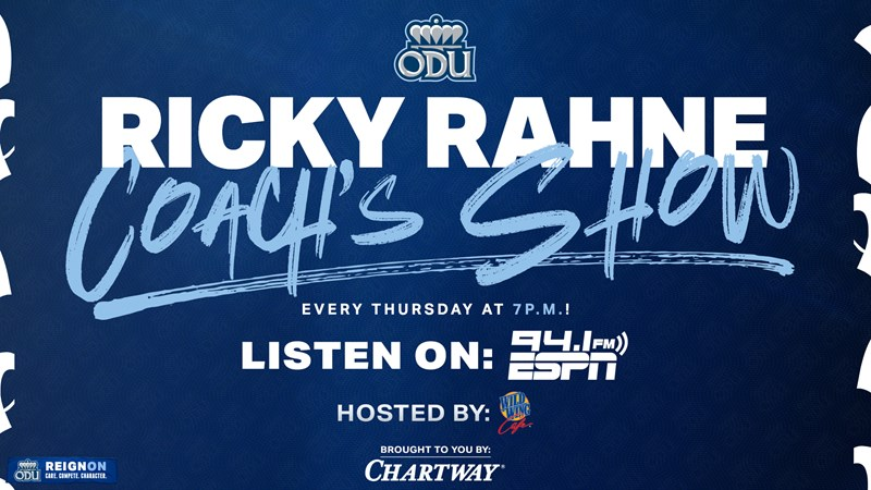 Ricky Rahne Coach's Show Presented by Chartway Federal Credit Union Airs Thursday at Wild Wing Cafe